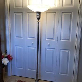 Antique torchiere floor lamp - Lamps