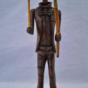 Carved Wooden Figure Tobacco Pipe