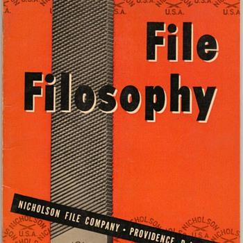 1950 - Nicholson File Company Booklet - Paper