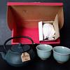 Roji tetsu kyusu and celadon yunomi tea set