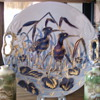 Early RS Prussia cobalt plate, mold A8, Shore birds