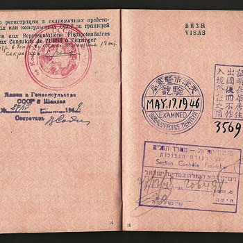1946 Soviet passport issued in China