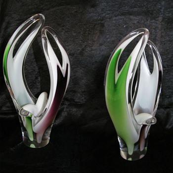 Paul Kedelv 1950's - Art Glass