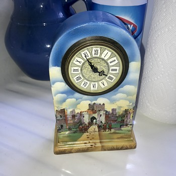 English Porcelain Shelf Clock Help With ID - Clocks