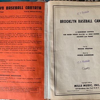 Brooklyn Dodgers Song Book  - Baseball