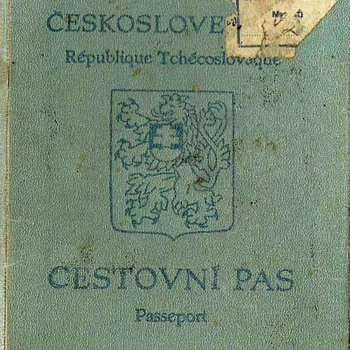 passport used to escape Prague in 1939