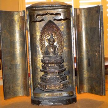 Oriental god in temple - Asian