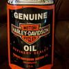 Porcelain Harley Davidson Oil Can Shape Sign