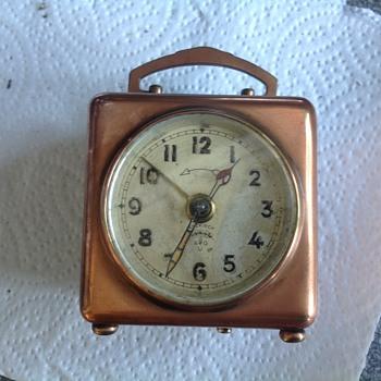 Lenzkirch copper case alarm clock - Clocks