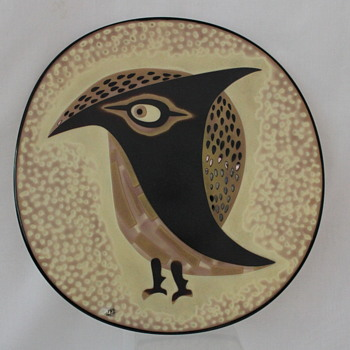 Fukuoka Glass owl plate - Art Glass