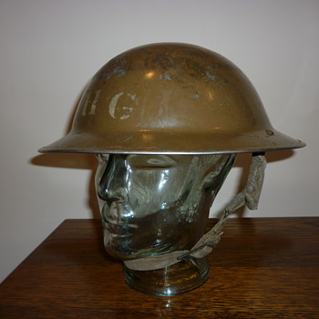 British WWII Home Guard steel helmet 1940