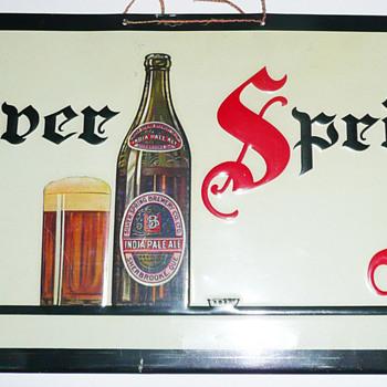 Silver Spring Ale Sign - Breweriana