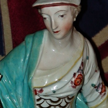 A Large Derby Figure of Britannia - Figurines