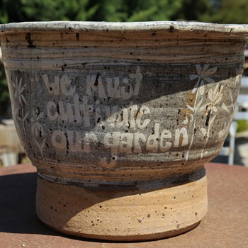 very large flower pot - We Must Cultivate Our Garden - Young S.L.O. 76 - Pottery