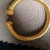 Gold torque bangle
