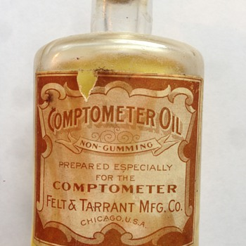 Felt & Tarrant Mfg. Co. Comptometer Oil - Office