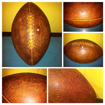 1935 SMU Signed Football