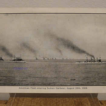 AMERICAN FLEET ENTERING SYDNEY HARBOUR, AUG. 20th 1908. - Postcards