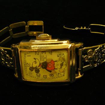 Ingersoll/Kelton Mickey Mouse Wristwatch - Wristwatches