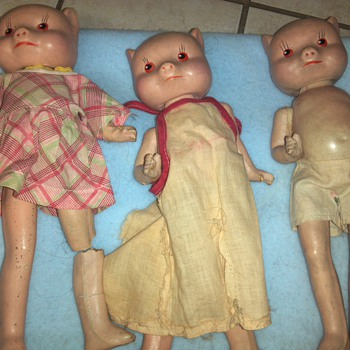 three pigs? very unique- child like! - Dolls