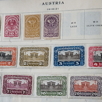 1919-1921 Austrian Stamps - Stamps