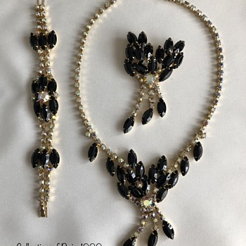 Juliana? Necklace, Bracelet, Brooch Set - Costume Jewelry