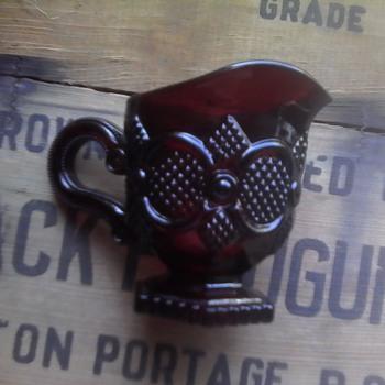 Avon Ruby Creamer - Glassware