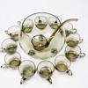 Smoked Glass Punch Set