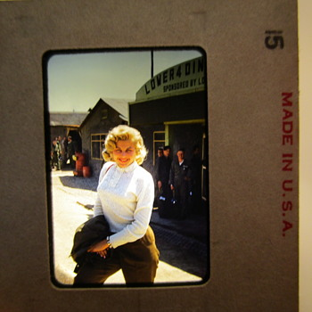 Korea Air Base 1950's - Who is this blonde? Marilyn Monroe? Jayne Mansfield  - Military and Wartime
