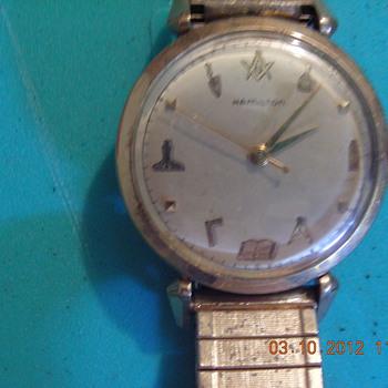 Hamilton Watch with Masonic Symbols