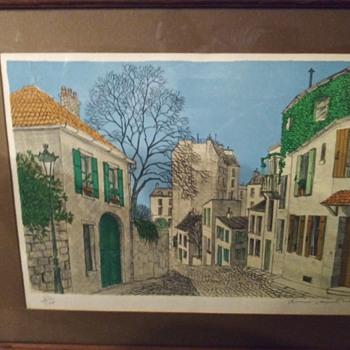 Vintage Lithograph - Fine Art