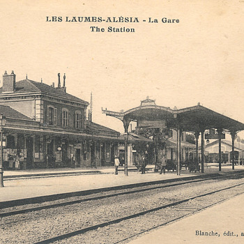 French Train station postcard - Postcards