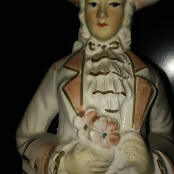 Colonial, Porcelain(?), Statuette.  Please help me ID him or his set.  Thx! - Figurines