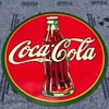 Coca Cola round bullseye sign 1937