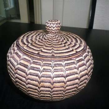 low country/native american basket - Native American