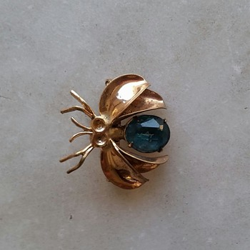 1940's bug pin - Costume Jewelry