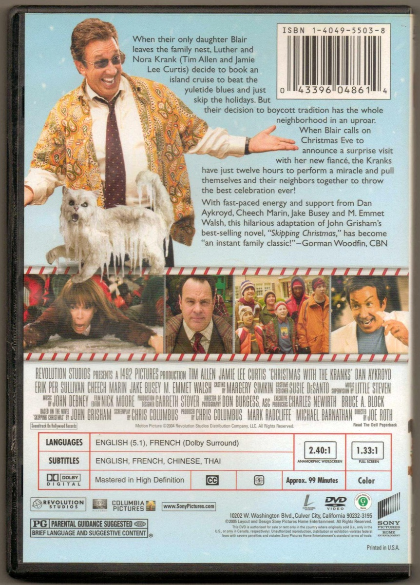 Christmas With The Kranks Dvd.Christmas With The Kranks Dvd Movie Collectors Weekly
