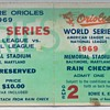 1969 Baltimore Orioles World Series Ticket Stub