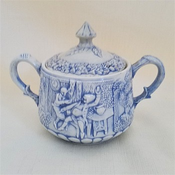 Blue & White Sugar Bowl - China and Dinnerware
