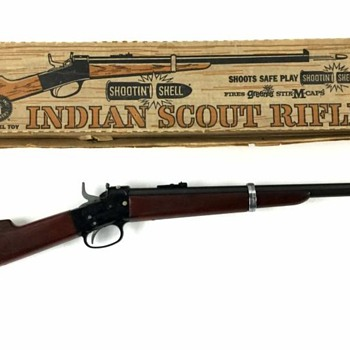 Mattel Shootin Shell Indian Scout Rifle - Toys