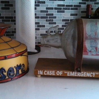 """In Case of Emergency"" Budweiser Lamp - Breweriana"