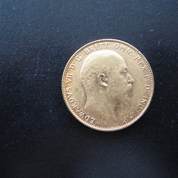 1907 British Gold Sovereign Gold Coin - World Coins