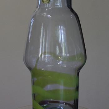 Unidentified Bohemian Glass Vase - Art Glass