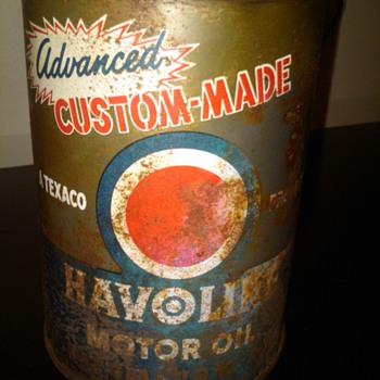 Havoline advanced custom made motor oil can - Petroliana