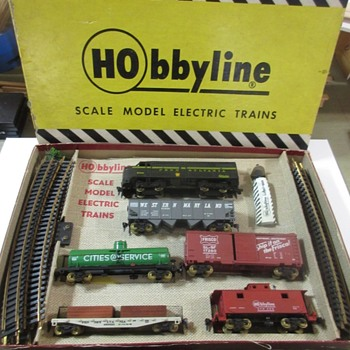 A train set I found at Hamburg PA. HObbyline set  - Model Trains