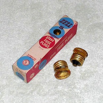 1950's - Zell Glass Fuse Plugs - Electronics