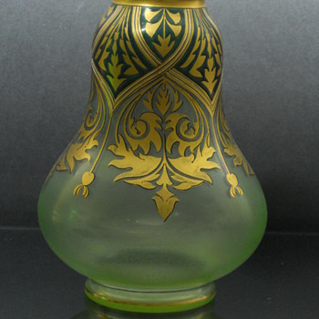Fritz Heckert enameled vase - Art Glass