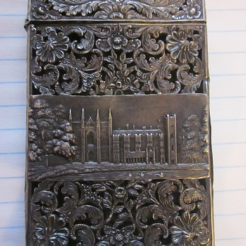 Sterling Silver Card Case Circa 1830's - Silver