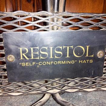 Need info... Vintage Resistol Hat display