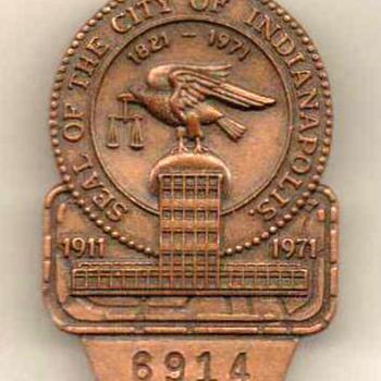 1971 - Indianapolis 500 Pit Badge Pinback